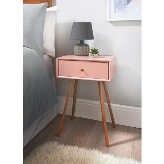 Bjorn Bedside Table - Blush