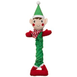 Festive Long Body Dog Toy - Elf