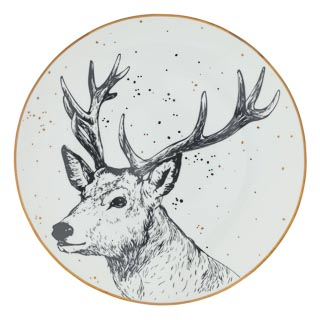 Stag Side Plate 20cm