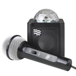 Byte Disco Ball Karaoke Speaker - Black