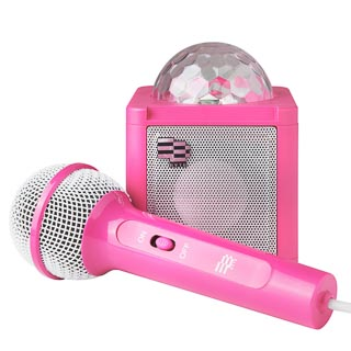 Byte Disco Ball Karaoke Speaker - Pink