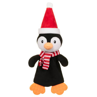 Festive Flattie Dog Toy - Penguin