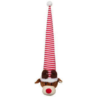 Christmas Crinkly Hat Dog Toy - Reindeer