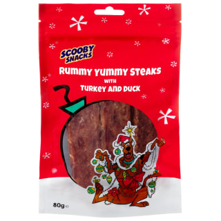 Scooby Snacks Rummy Yummy Steaks 80g