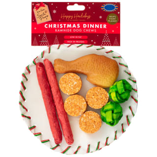 Christmas Dinner Rawhide Dog Chews