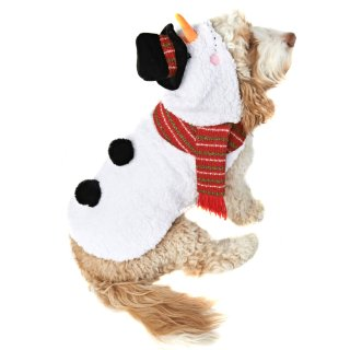 Snowman Christmas Dog Costume M-XL