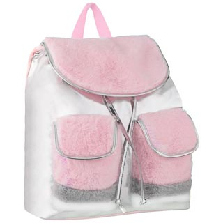 Fur Shine Backpack - Pink