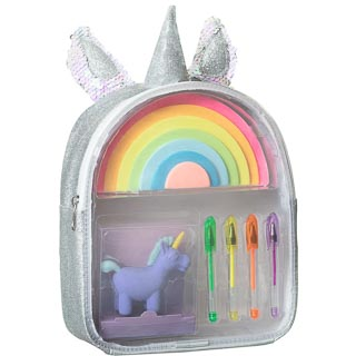 Mini Stationery Filled Backpack - Unicorn