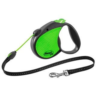 Flexi Neon Dog Lead 5m - Green