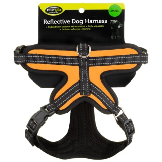 Nite Glo Reflective Dog Harness - Orange