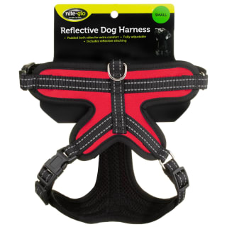 Nite Glo Reflective Dog Harness - Red