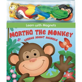 Magnetic Play Book - Martha the Monkey
