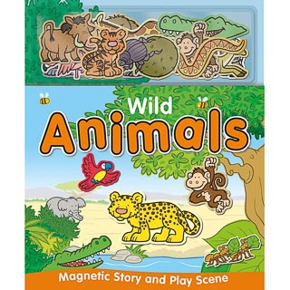 Magnetic Play Book - Wild Animals