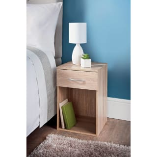 Lokken 1 Drawer Bedside Table - Oak