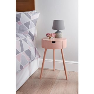 Moden 1 Drawer Bedside Table - Blush