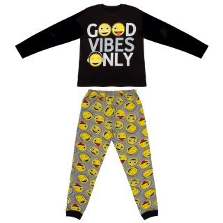 Older Kids Cotton Pyjamas - Good Vibes Only
