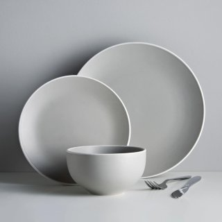 Grey Matte Dinner Set 12pc