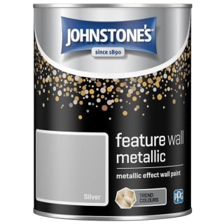 Johnstone's Feature Wall Metallic Paint 1.25L - Silver