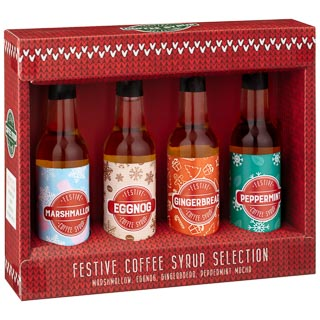 Festive Coffee Syrup Selection 4pk