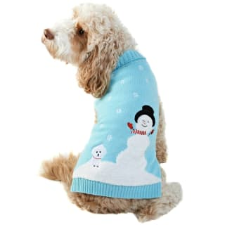 Snowman Light-Up Christmas Dog Jumper