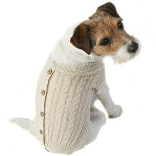 Doggy Cardigan - Small - Large - Cream