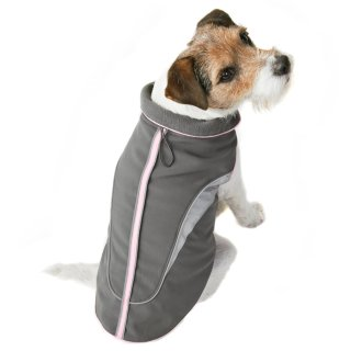 Reflective Dog Coat - X-Small - Small - Pink