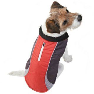 Reflective Dog Coat - X-Small - Small - Red