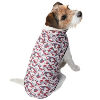Puffer Dog Coat - X-Small - Medium - Pink Camo
