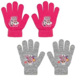 Kids L.O.L. Surprise! Gloves 2pk - Pink & Grey