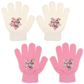 Kids L.O.L. Surprise! Gloves 2pk - Pink & White