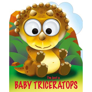 Googley Eyes Christmas Book - Baby Triceratops