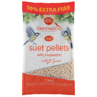 Glennwood Suet Pellets with Mealworm 1kg +50% Free