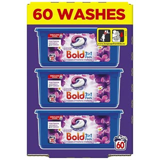 Bold 3-in-1 Pods 60 Washes - Lavender