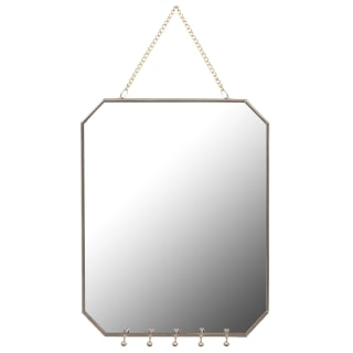 Mirror with Jewel Hooks