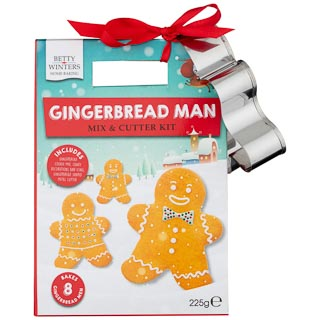 Gingerbread Man Mix & Cutter Kit