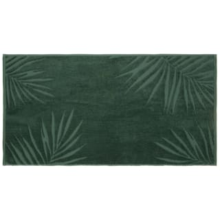 Urban Tropics Palm Stitched Hand Towel - Green