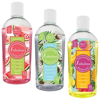 Fabulosa Concentrated Disinfectant 220ml - Tropical Fruits