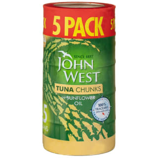 John West Tuna Chunks in Sunflower Oil 5pk