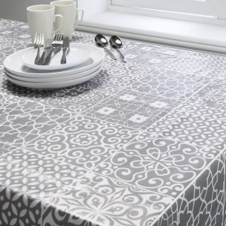 Wipe Clean Printed Tablecloth 132 x 230cm - Geo
