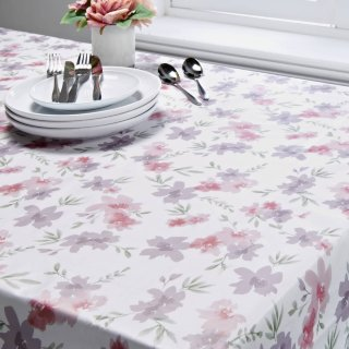 Wipe Clean Printed Tablecloth 132 x 230cm - Floral
