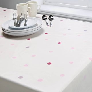 Wipe Clean Printed Tablecloth 132 x 230cm - Dotty