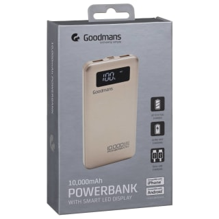 Goodmans Power Bank 10000mAh - Gold