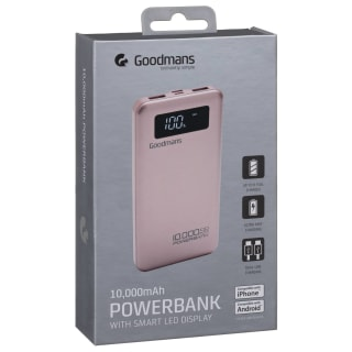 Goodmans Power Bank 10000mAh - Rose Gold