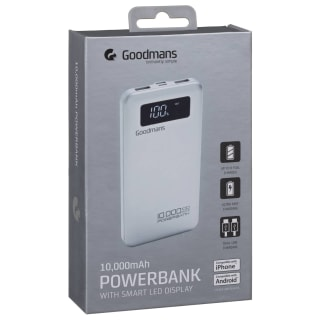 Goodmans Power Bank 10000mAh - Silver
