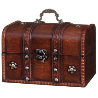 Wooden Storage Chest - Dark Wood