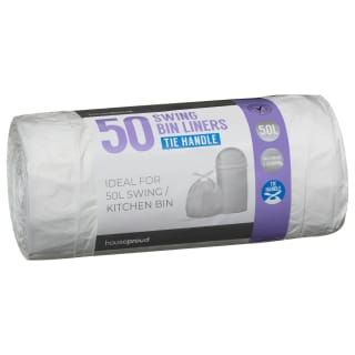 Tie Handle Swing Bin Liners 50pk