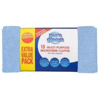 Multi Purpose Microfibre Cloths 15pk - Blue