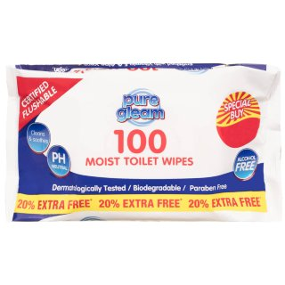 Moist Toilet Wipes 100pk