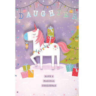 Daughter Have a Magical Christmas - Christmas Card