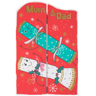 Mum & Dad Crackers - Christmas Card